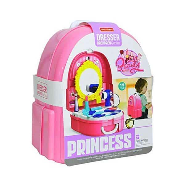dresser backpack series kids beauty set pretend princess play dress up makeup toys