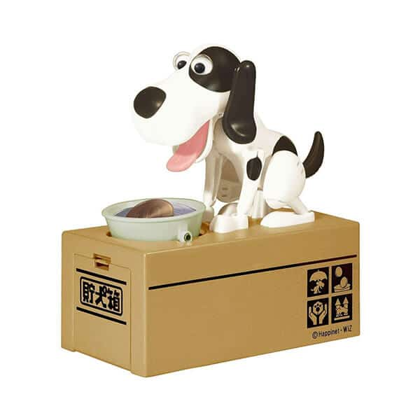piggy bank dog house coin box multicolor