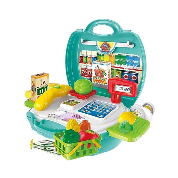 role play briefcase style supermarket toy set for kids
