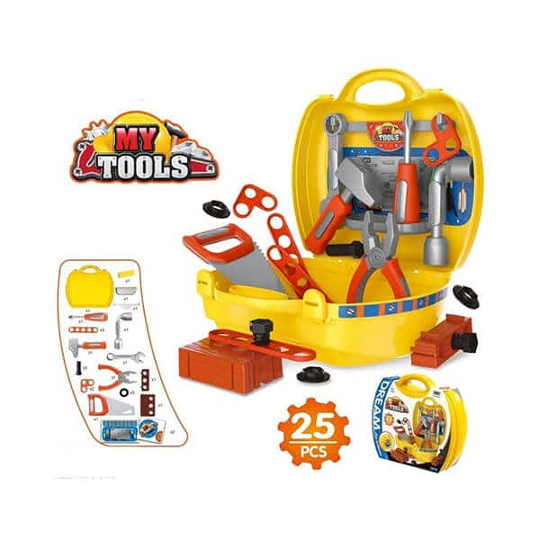 role play briefcase style toy tool set for kids multicolor 2