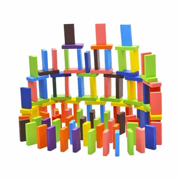 wooden colors blocks for kids and building blocks toy 120 pieces